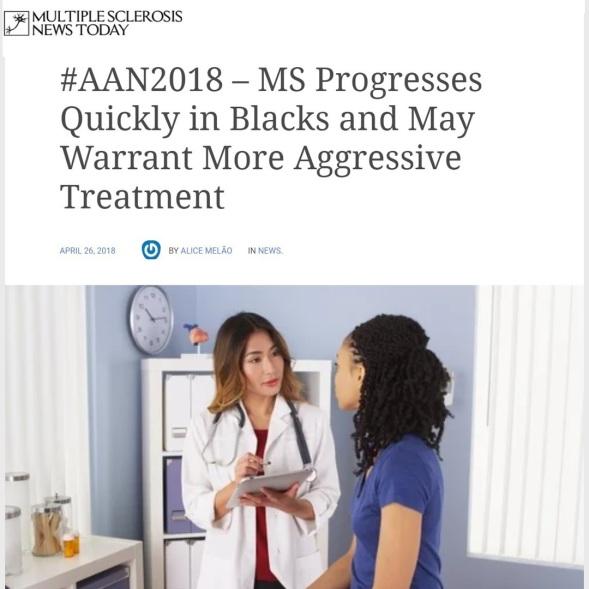 MS in Blacks Progresses Quickly