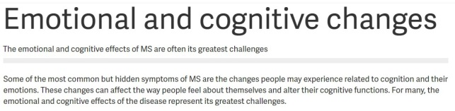 MS patients should be screened for depression. By Sherilyn George-Clinton, Writer